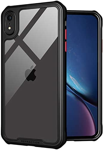 TENOC Phone Case for Apple iPhone XR Case, Clear Back Cover Bumper Case Compatible for iPhone XR 6.1-Inch, Black