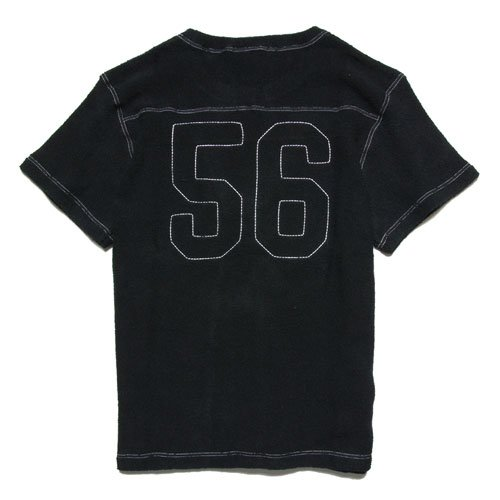 フットボール半袖カットソー ANDSUNS SHINE FOOTBALL AS172317 B073ZCRW5P X-Large|ブラック ブラック X-Large