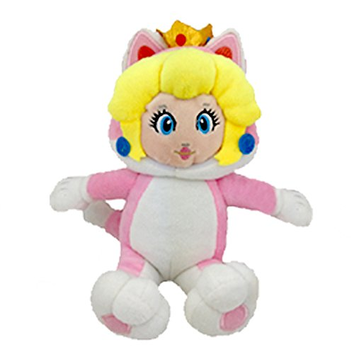 Super Mario Bros 3D World Character Cat Princess Peach Pink Suit Soft Plush Toy Stuffed Animal 9