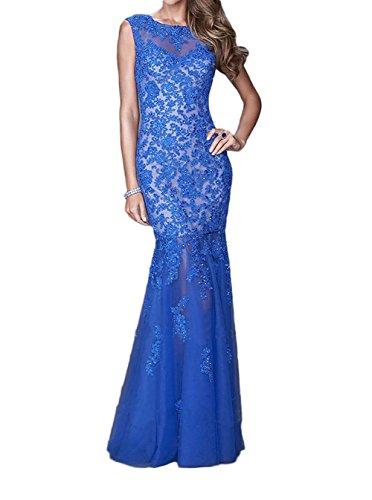 U Rock Blau Lang Orange Braut Brautmutterkleider Royal Ausschnitt La Marie Trumept Abendkleider Spitze Abendkleider 1HqnffSw