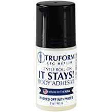 Truform It Stays! Roll-On Body Adhesive, 2 fl. oz, Made in the USA