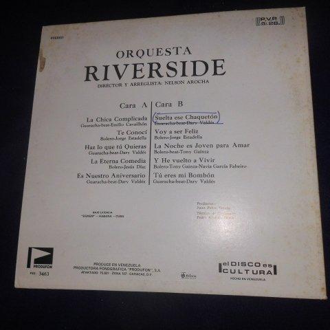 Orquesta Riverside – Orquesta Riverside Sello: Produfon – LDS-3463 Formato: Vinyl, LP, Album Género: Latin, Funk / Soul Estilo: Afro-Cuban, Bolero by Produfon