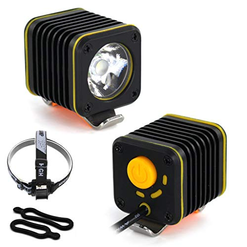 Mbtaua-Sports LED Mini Bicycle Headlight Running Safety Light Mountain Bike Lights USB, 3 Modes T6