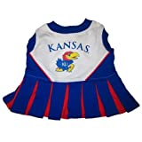 Kansas Jayhawks Dog Cheer Leading Dress & Leash Set Size SM