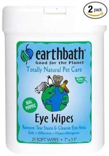 Pet Food Experts Earthbath All Natural Specialty Eye Wipes, 25 Wipes (Pack of 2)