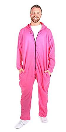 Forever Lazy Soft Fleece Lightweight Onesie Adult Lounge Wear - Pink XS/S