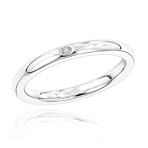 luxurman-love-quotes-womens-stackable-sterling-silver-diamond-wedding-ring-size-75