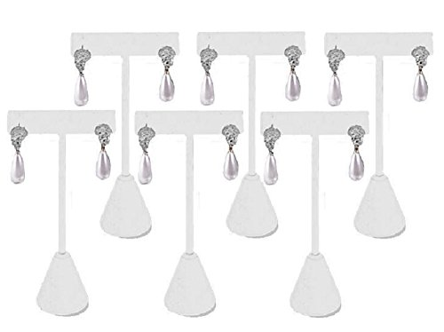 T- Shape Style Earring Display White 4.75