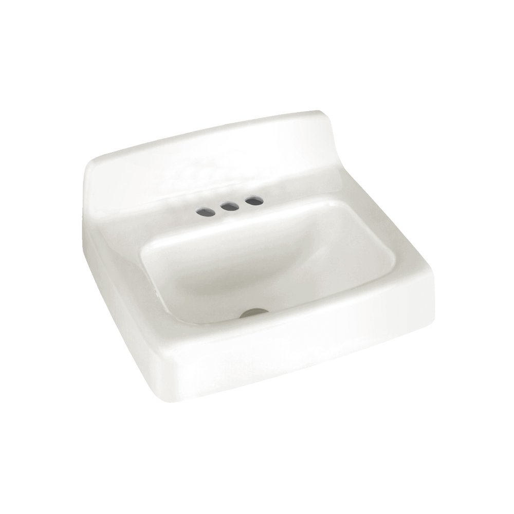 American Standard 4867.004.020 Regalyn 19 By 17 Inch Enameled Cast Iron  Wall Hung Sink With 4 Inch Faucet Spacing, White   Wall Mounted Sinks    Amazon.com