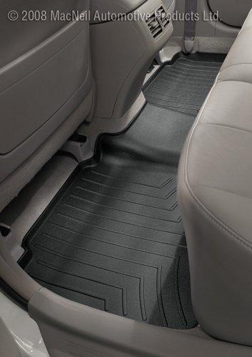 Black WeatherTech Custom Fit Rear FloorLiner for Ford F-150