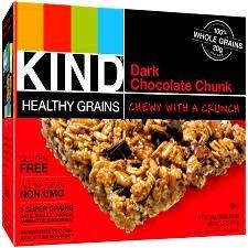 KIND, Healthy Grains Granola Bars, DARK CHOCOLATE CHUNK, 5 count box (Pack of 6)