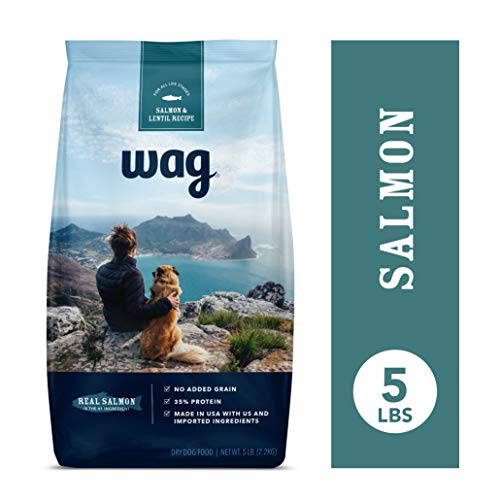 Amazon Brand - Wag Dry Dog Food Salmon & Lentil Recipe (5 lb. Bag) Trial