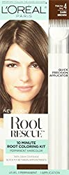 L'oreal Paris Root Rescue 10 Minute Root Coloring Kit, 4 Dark Brown