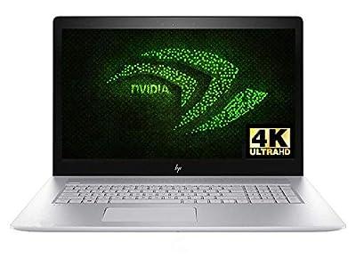 "2018 HP Envy 17t Gaming Laptop 8th Gen Intel i7 up to 4GHz 16GB 512GB SSD 17.3"" 4K B&O Audio WiFi HDMI NVIDIA 4GB (Certified Refurbished)"