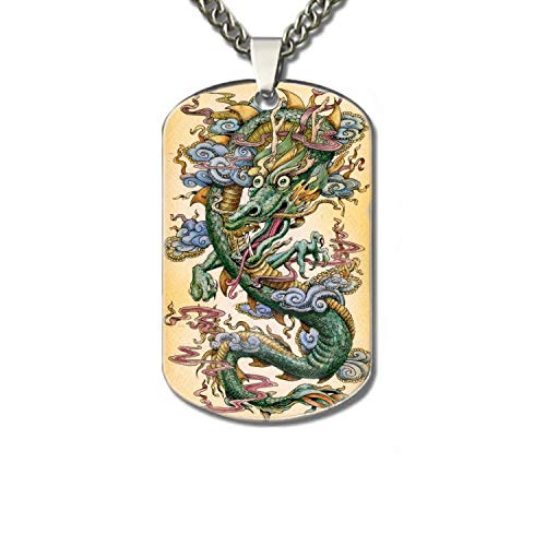 Price comparison product image Linhong Aluminum Jade Dragon Specimen A Phone Case Tag Pendant Necklace (Printed)