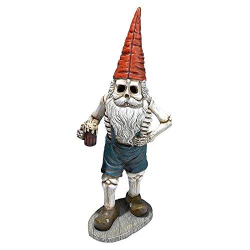 Scary Gnome (Zombie Gnome - Bavarian Oktoberfest Skeleton Gnome Hans - Garden Gnome Statue)