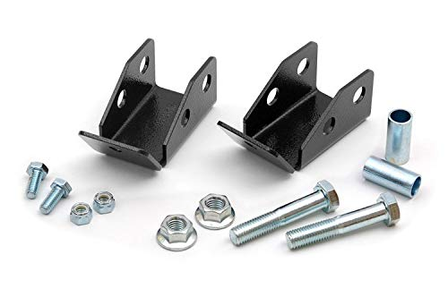 Rough Country - 1185 - Rear Shock Relocation Brackets for Jeep: 97-06 Wrangler TJ 4WD, 04-06 Wrangler Unlimited LJ 4WD
