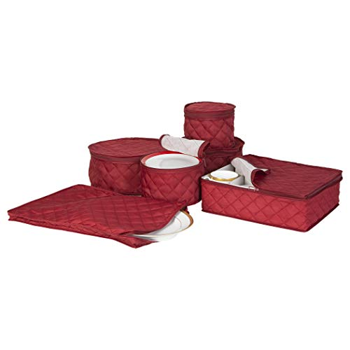 (Quilted China Keepers 6pc. Starter Set -Crimson)