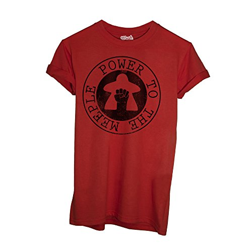 T-Shirt POWER TO THE MEEPLE- GIOCHI DA TAVOLO - GAMES by iMage Dress Your Style