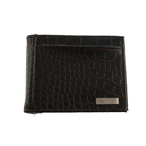Calvin Klein New Men's Trifold Leather Wallet (Brown)
