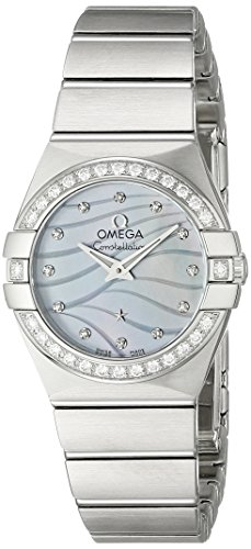 Omega Women's 12315246057001 Constellation Analog Display Swiss Quartz Silver Watch