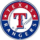 Texas Rangers 12 inch Baseball Style Metal Circle Sign by Tag City