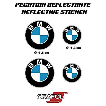Sticker Sticker Adhesive Aufkleber Decals Stickers Compatible With Bmw Reflective Car Motorcycle Vinyl 4 X Ref1