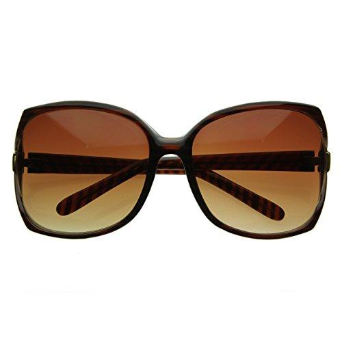 - Designer Inspired Womens Oversize Sunglasses (Tortoise Shell)