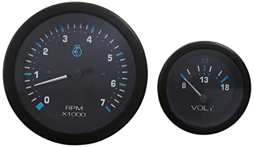 2 Engine Twin (Sierra International 69725P Eclipse Twin Engine Add On OB 2 Gauge Set Includes Tachometer & Voltmeter)