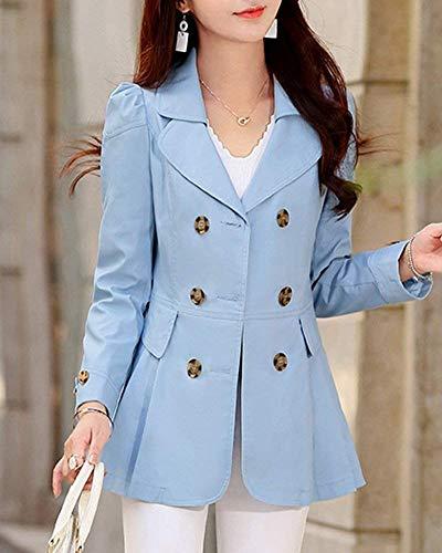 Boutonnage Automne Outerwear Manteau Fit El Double Longues Manches Costume Femme Blouson Slim Printemps qzdUzE