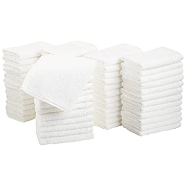 AmazonBasics Cotton Washcloths, 60 - Pack