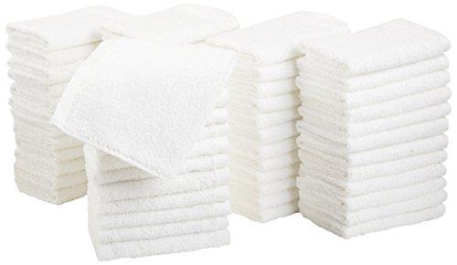 AmazonBasics Cotton Washcloths, 60 - Pack