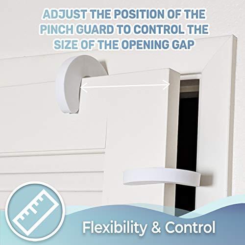 41DcDcD0hKL Tough Door Pinch Guards (6-Pack) Slick Design, Child Safety, Finger Pinch Protectors.    Product Description