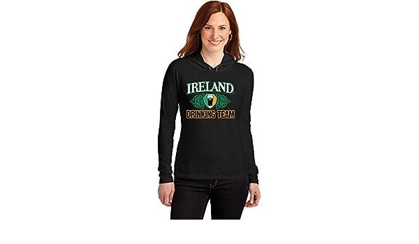 7edb8c36b Amazon.com: Buy Cool Shirts ST Patricks Day Ireland Drinking Team Ladies  Hooded Shirt: Clothing