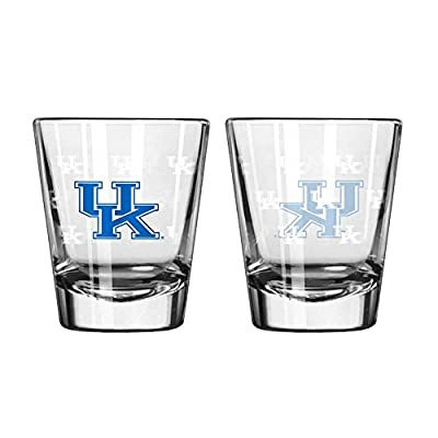 Kentucky Wildcats Shot Glass - 2 Pack Satin Etch