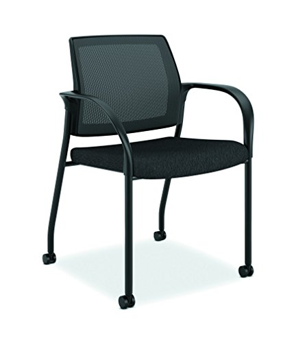 - HON Ignition Mesh Back Chair with Fixed Arms - Multi-Purpose Stacking Chair, Black (HIGS6)