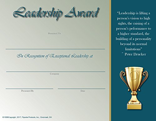 Exceptional Leadership Award - Matte Paper - Quantity 150