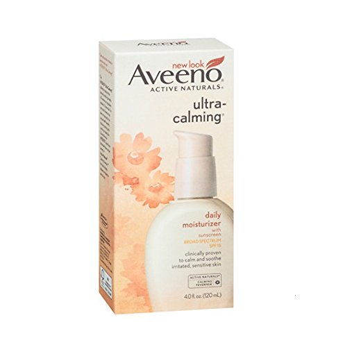 Calming Face (Aveeno, Active Naturals, Ultra Calming, Daily Moisturizer, SPF 15, 4.0 fl oz (120 ml) - 2pc)