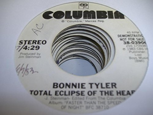 BONNIE TYLER 45 RPM Total Eclipse Of the Heart / SAME (Bonnie Tyler Total Eclipse Of The Heart Vinyl)