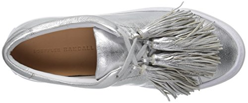 mujer plateada Loeffler borla metálica Randall de Logan moda Zapatilla leater para 11qIFAv