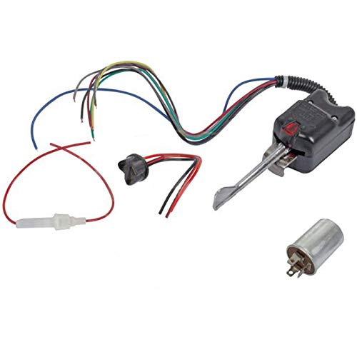 MACs Auto Parts 47-21110 Turn Signal Switch Kit - 6 Volt Positive Ground -