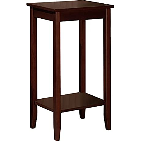 DHP Rosewood Tall End Table Simple Design Multi Purpose Medium Coffee Brown