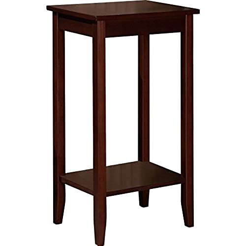 Attirant DHP Rosewood Tall End Table, Simple Design, Multi Purpose Small Space Table,  Medium Coffee Brown