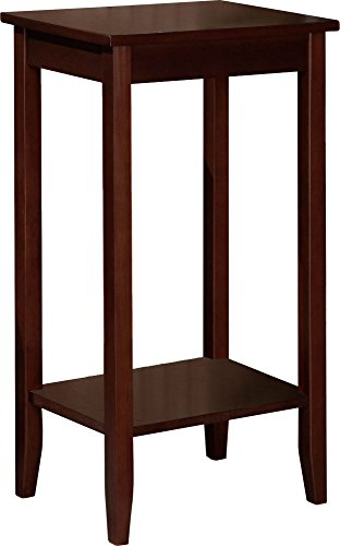 Side End Wood Table - DHP Rosewood Tall End Table, Simple Design, Multi-purpose Small Space Table, Medium Coffee Brown