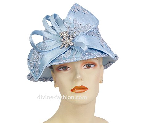 Ms. Divine Collections Women's Hats, Church Hat, Dressy Formal Hats #H885 (Blue) by Ms. Divine Collections