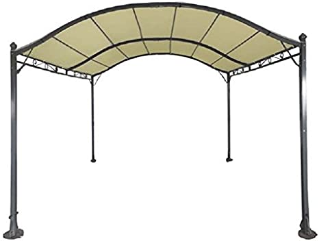 Cenador de acero / Pérgola Maxi, 300 x 400 cm: Amazon.es: Jardín