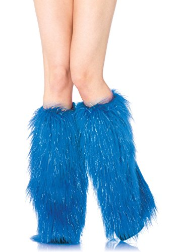 Leg Avenue Womens Furry Shimmer Leg Warmers