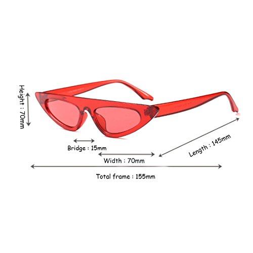 ojo de sol Huicai Gafas de marco de de vintage gato pequeño de estilo de sol Rojo moda Estilo de de Gafas de estilo diseñador 0nr0zIf