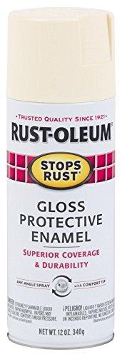 Rust-Oleum 7794830 Stops Rust Spray Paint, 12-Ounce, Gloss Antique White (White Antique Spray Paint)