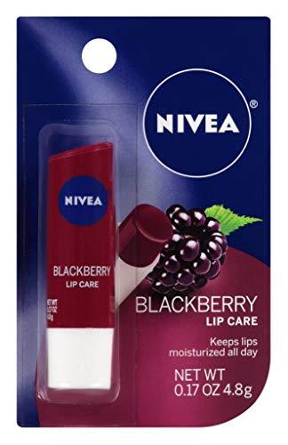 Nivea Lip Care Blackberry 0.17 Ounce Carded (6 Pieces)